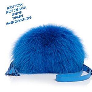 Loeffler Randall Fox Fur Pouch Mini Crossbody Bag
